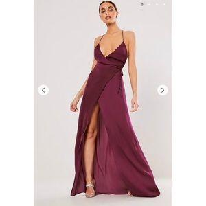 Low Back Wrap Maxi Dress